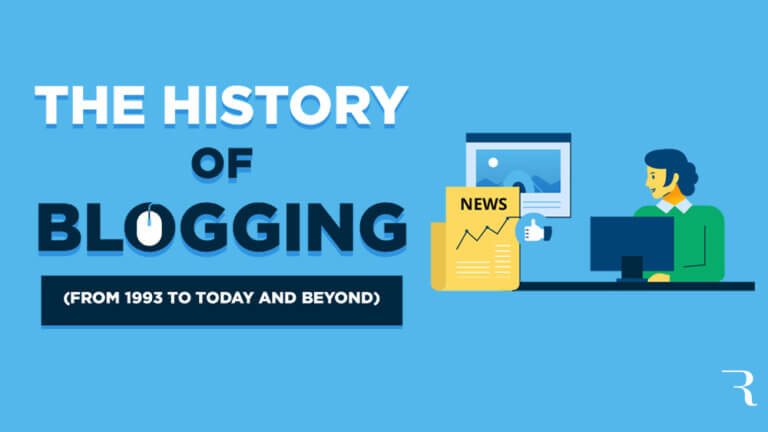 History of Blogging Journey Description Infographic Optimized