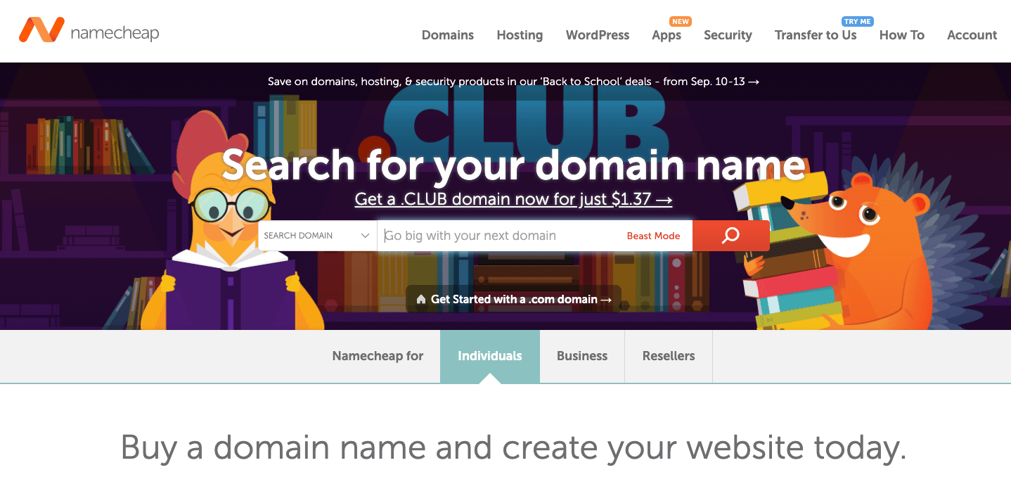 Namecheap Monthly Web Hosting Plans (Billed Month-to-Month)