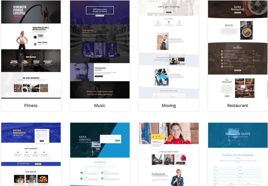 Best Website Builder Elementor Theme Library Screenshot