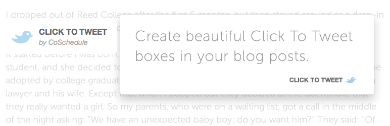 Blogging Tools Click to Tweet by CoSchedule