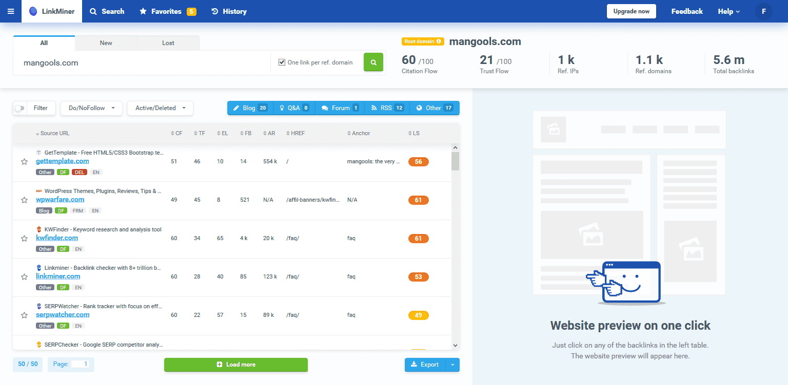 Blogging Tools LinkMiner for Content Outreach