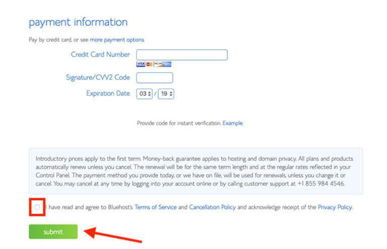 Come creare una schermata di hosting Web delle informazioni di fatturazione del sito Web
