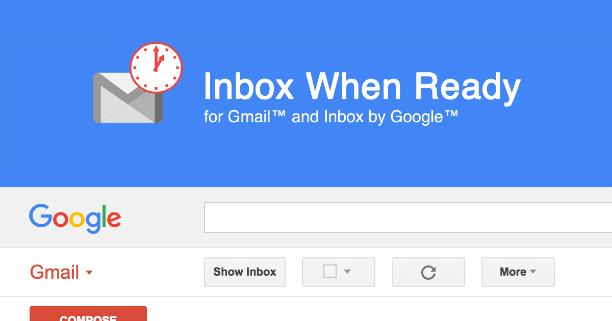 Inbox When Ready Tools for Bloggers to Be Focused