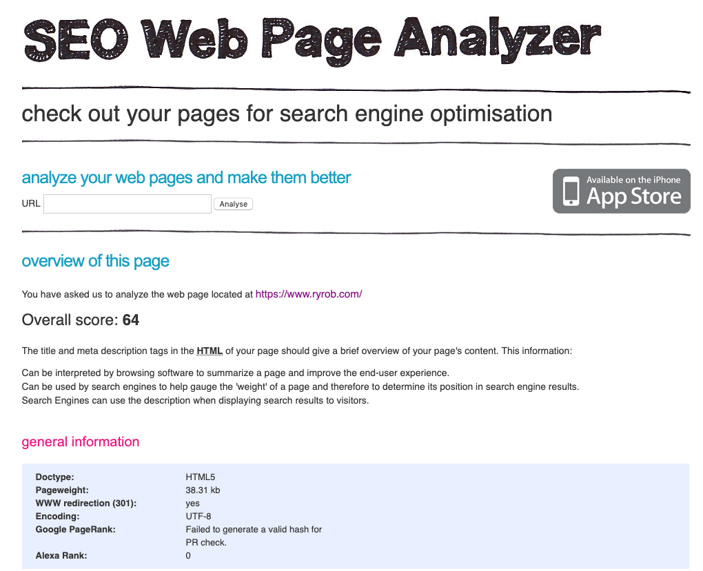Strumenti di blog di SEO Web Page Analyzer per gli esperti di marketing