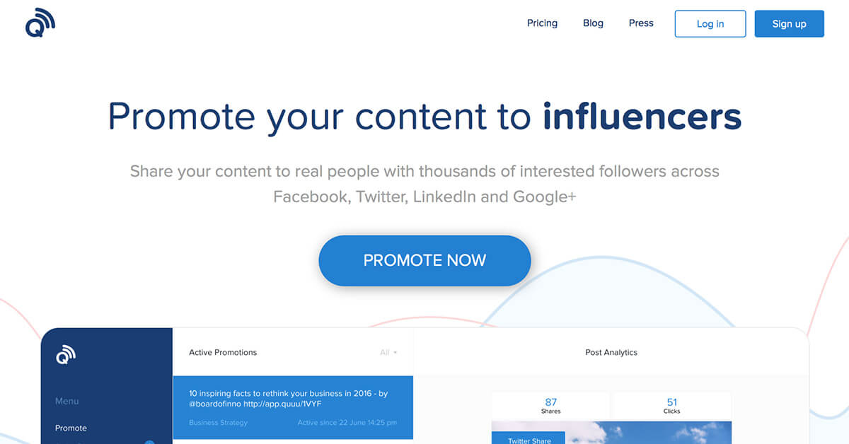 Top Blogging Tools Quuu Promote to Influencers