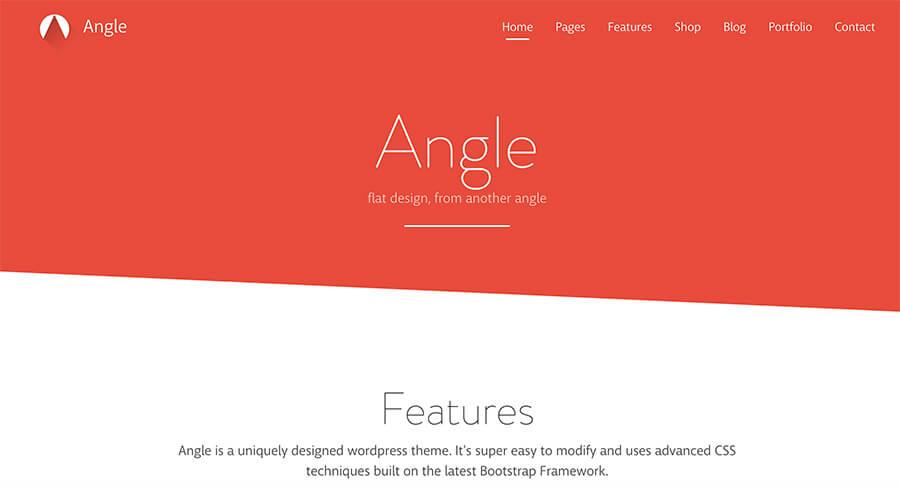 Angle Flat Design WordPress Theme for Bloggers