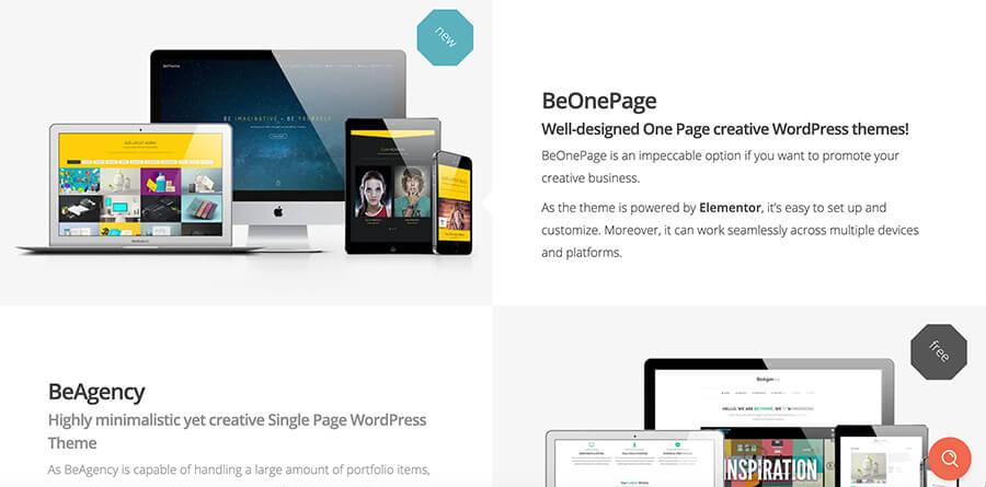 BeTheme for Bloggers (Screenshot of Homepage)