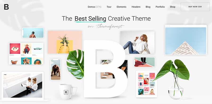 Bridge Best WordPress Themes for Bloggers to Use This Year