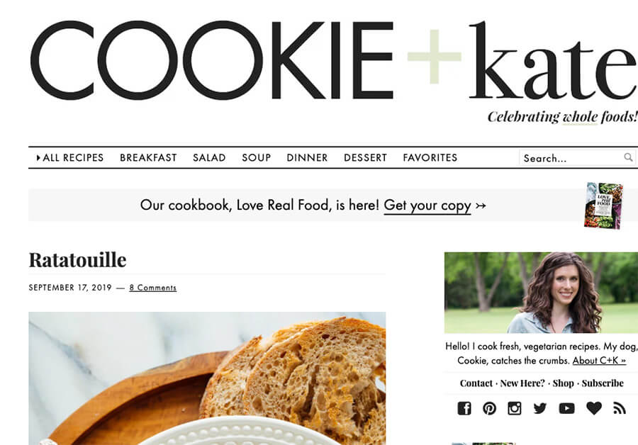 Cookie and Kate Food Blog Example to Start With