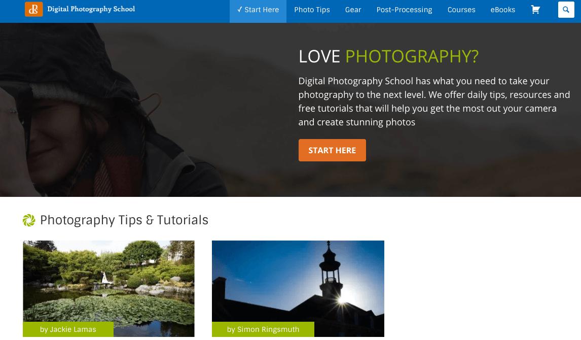 Blog di nicchia della scuola di fotografia digitale Esempio per scegliere una nicchia