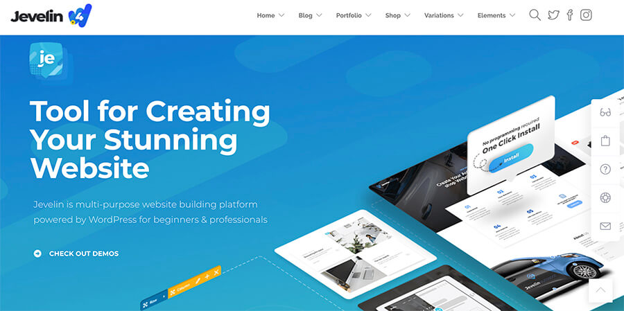 Jevelin Theme for Bloggers and Website Owners