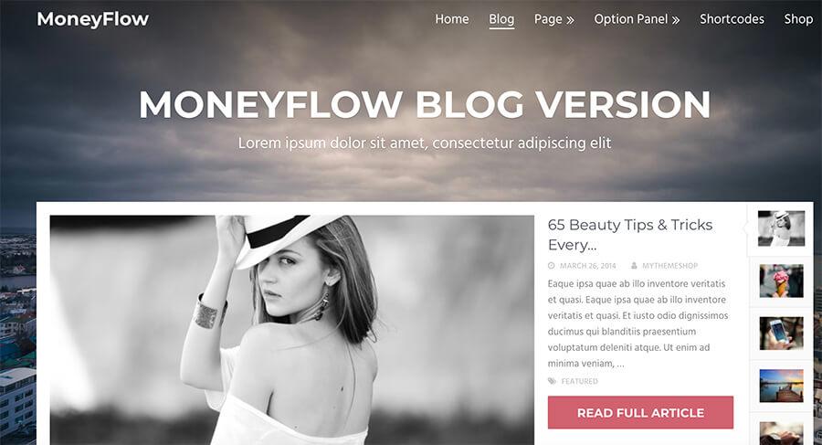 MoneyFlow WordPress Theme for Bloggers