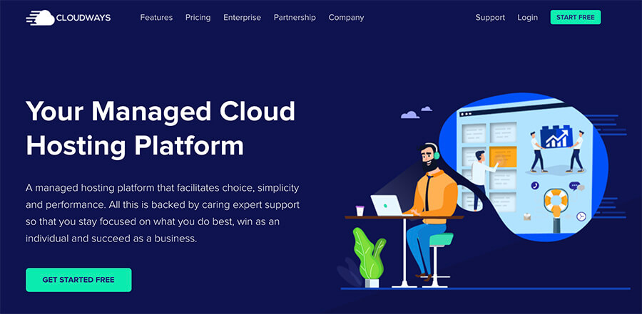 Monthly Hosting Plans Cloudways Homepage
