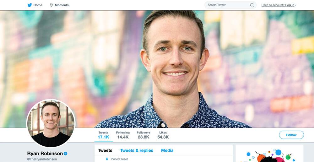 About Ryan Robinson: Entrepreneur, Writer, Content Marketer
