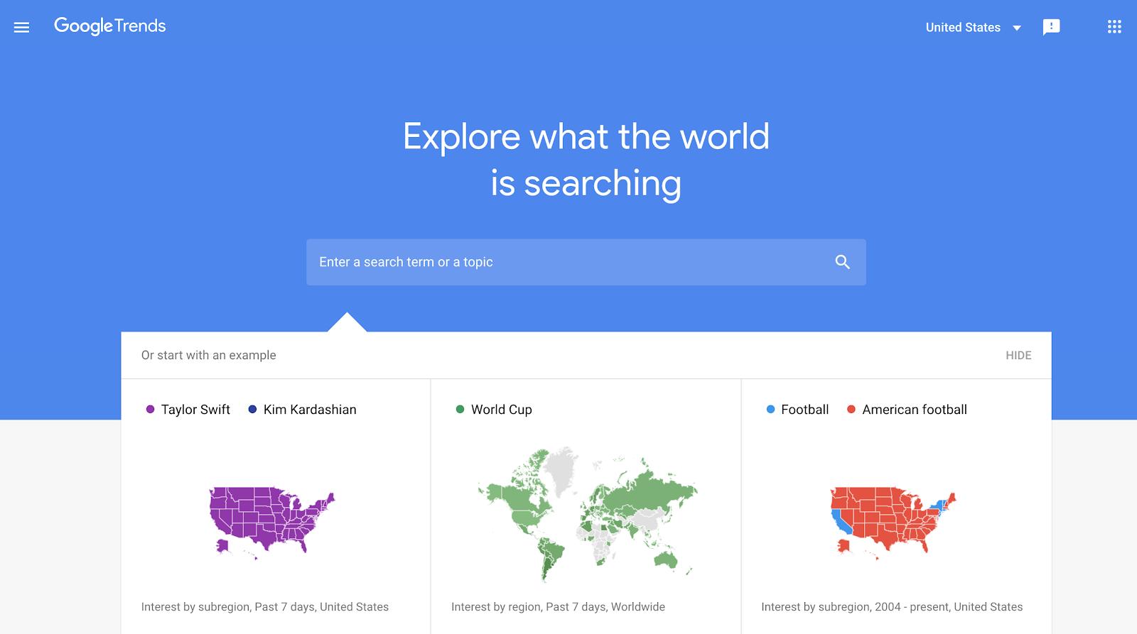 Ricerca di parole chiave utilizzando Google Trends per mappare la popolarità