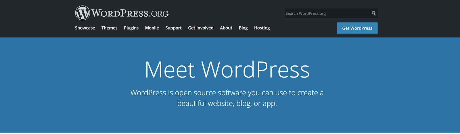 WordPress the Best Free Blogging Site and CMS (Screenshot)
