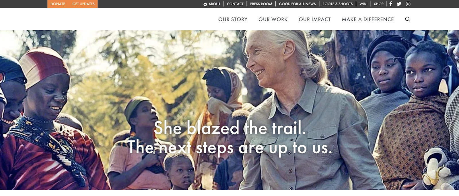 Self-Hosted Free Blog Site WordPress Used by Jane Goodall