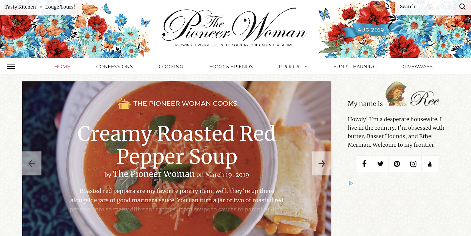 Top Food Blog Pioneer Woman Built on WordPress