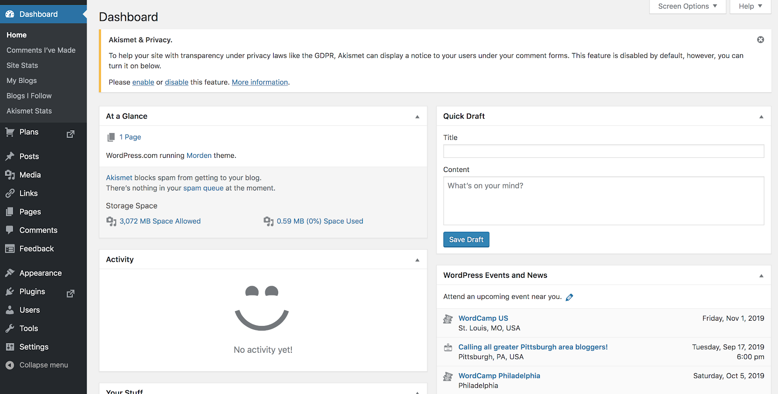 Screenshot of the Free WordPress Content Editor