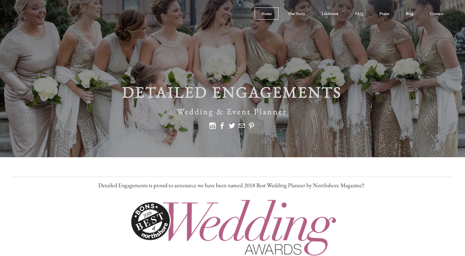 Example of a Wedding Website Built with Free Blogging Platform Weebly