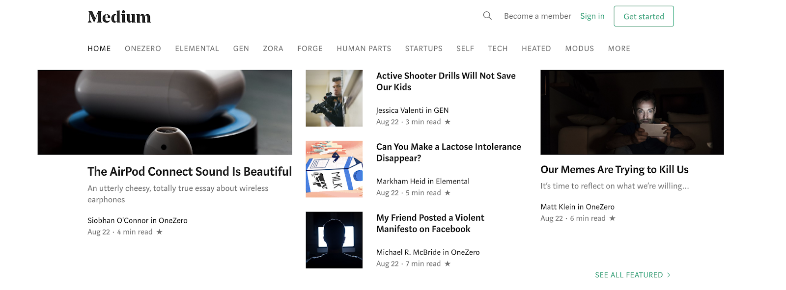 Medium as a Free Blogging Site to Use for Getting Started Today