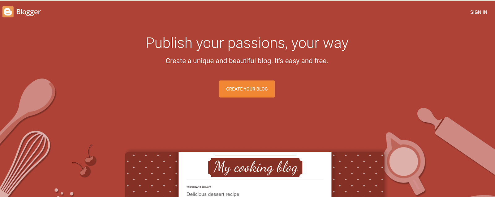 Blogger as a Free Blog Site to Use for Building a Blog for Free