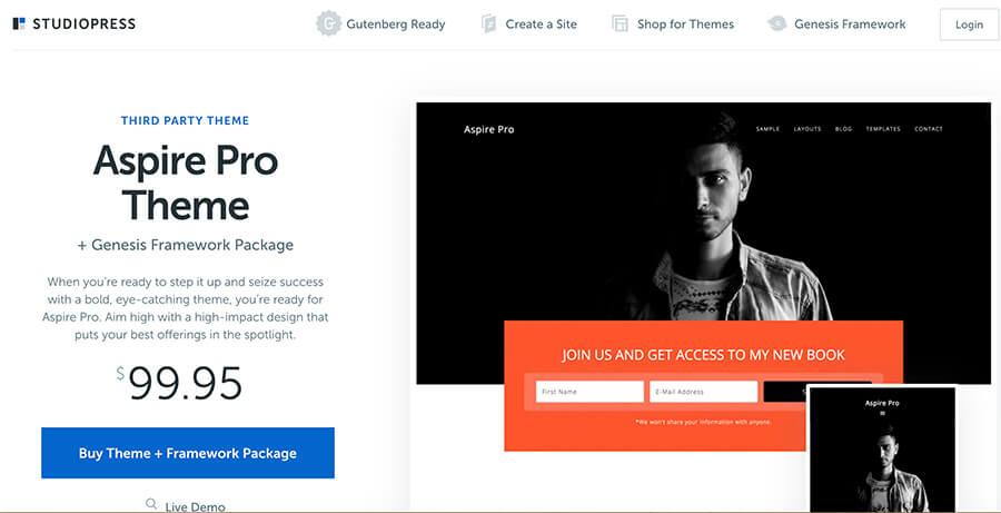 StudioPress WordPress Theme for Bloggers by WpEngine
