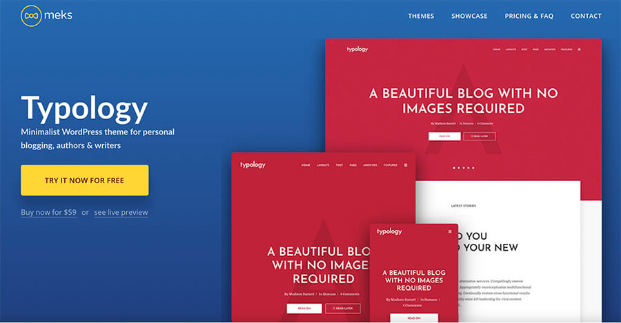 Typology WordPress Theme for Text Based Bloggers
