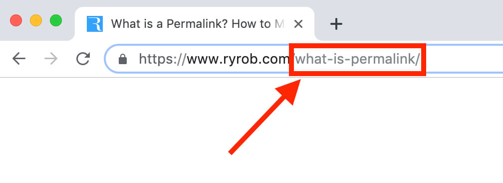 What is a Permalink? Blog URL Example and Screenshot of SEO Friendly Permalink
