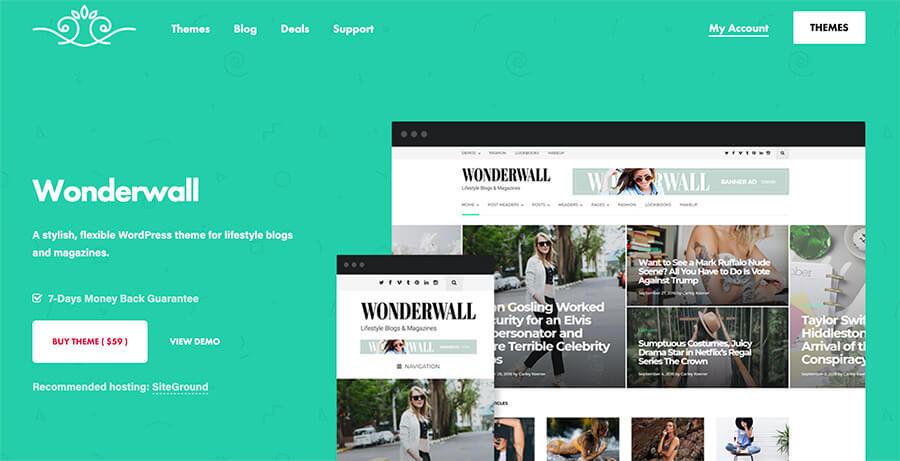 Wonderwall WordPress Theme for Photographers and Bloggers