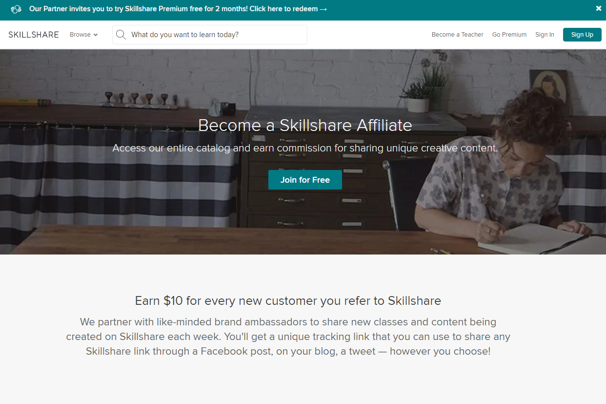 Skillshare's Affiliate Program for Online Education Bloggers