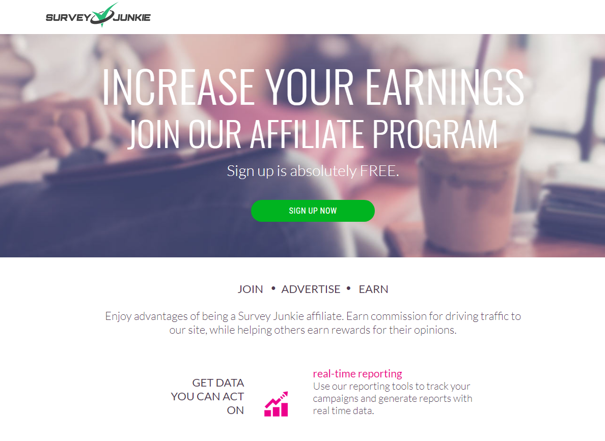 SurveyJunkie Affiliate Program Explainer Graphic