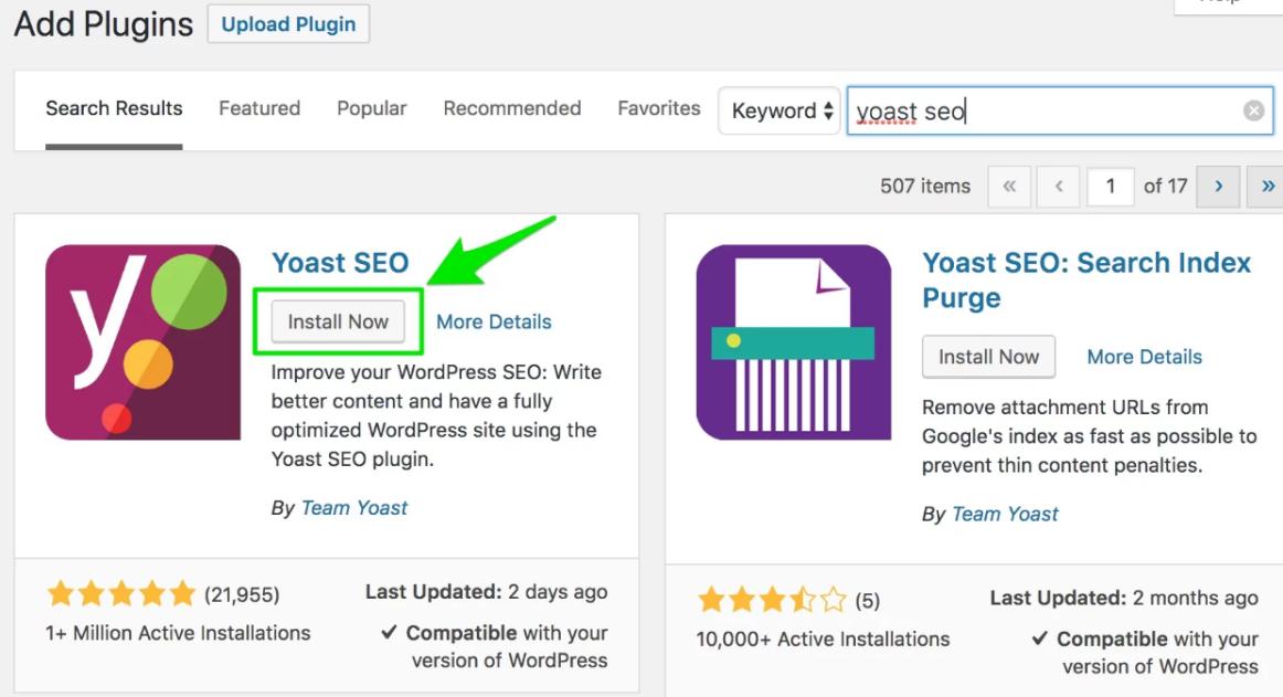 Yoast SEO Plugin Blogging Terms Glossary