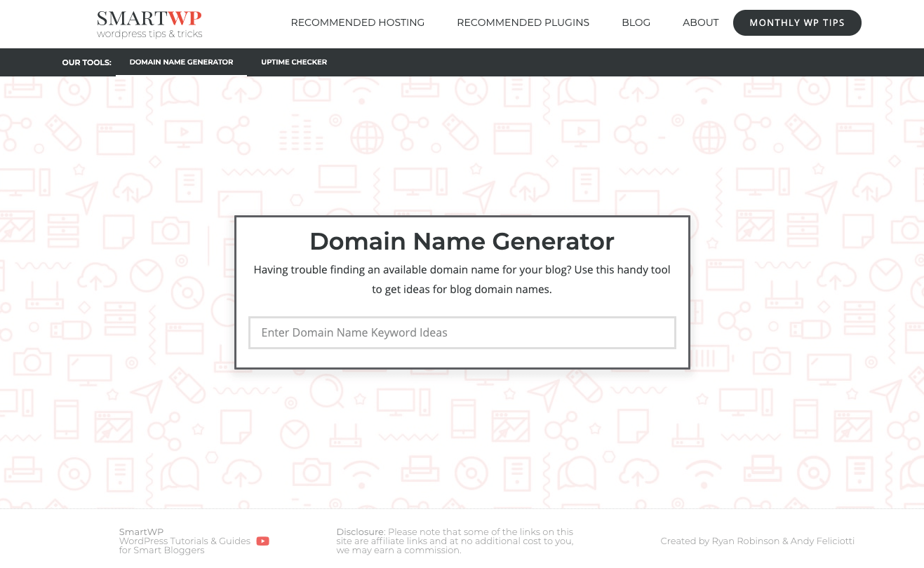 Domain Name Generators by SmartWP Find Smart Domain name Ideas