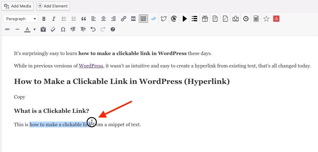 How To Make A Clickable Link In Wordpress Hyperlink On A Blog