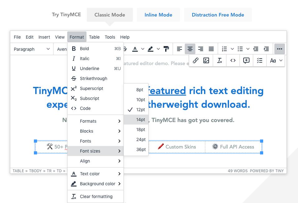 Come modificare la dimensione del carattere nella schermata del plugin TinyMCE di WordPress