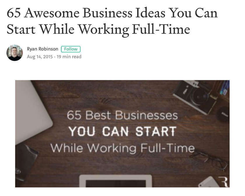 Medium Free Blogging Sites Article Posting Example Screenshot