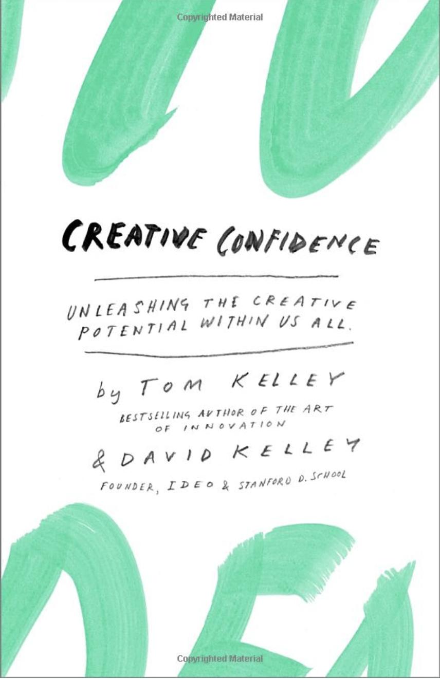 Confiança criativa por Tom Kelley como um dos principais livros de blogs deste ano