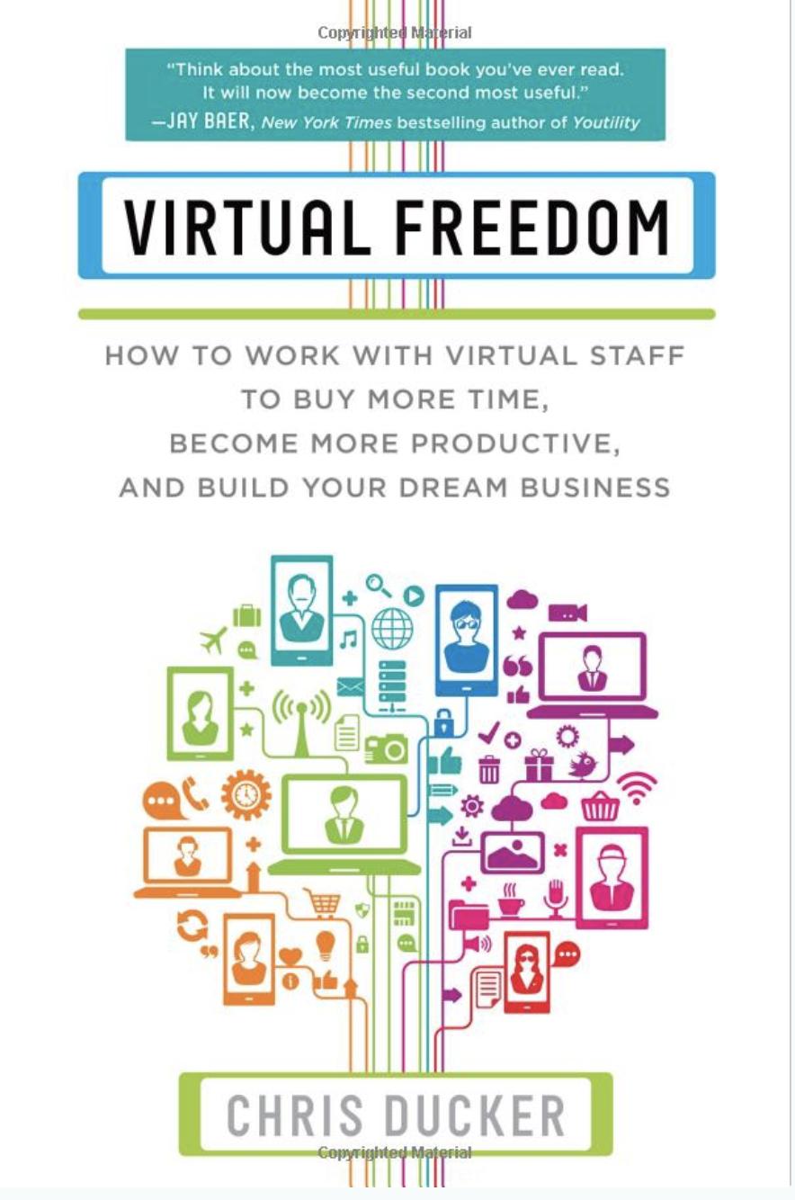 Livro de blogs de liberdade virtual de Chris Ducker