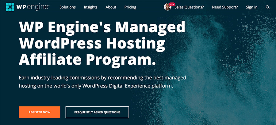 WP Engine Affiliate Program for Bloggers Web Hosting Company