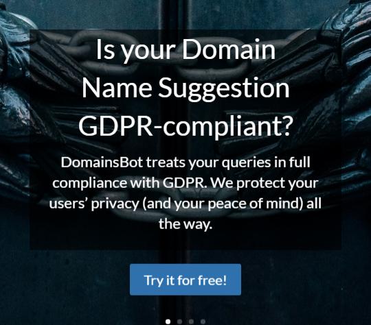 DomainsBot Generator Example Screenshot