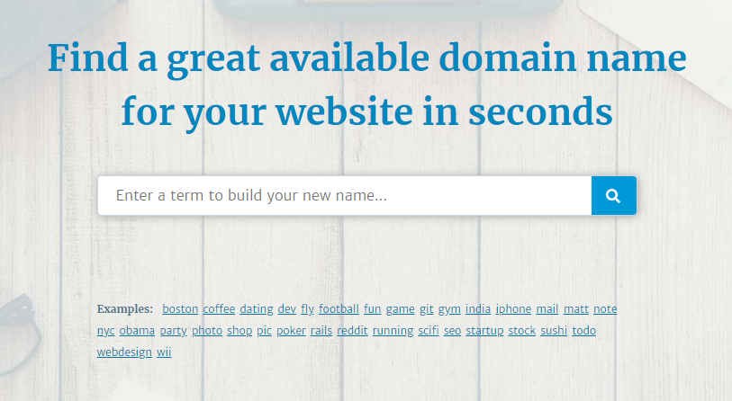 LeanDomainSearch Homepage Screenshot
