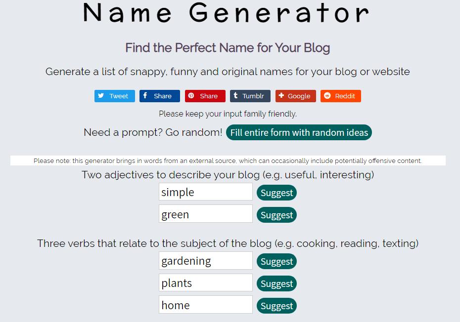 Name Generator's Domain Name Generator Tool to Use
