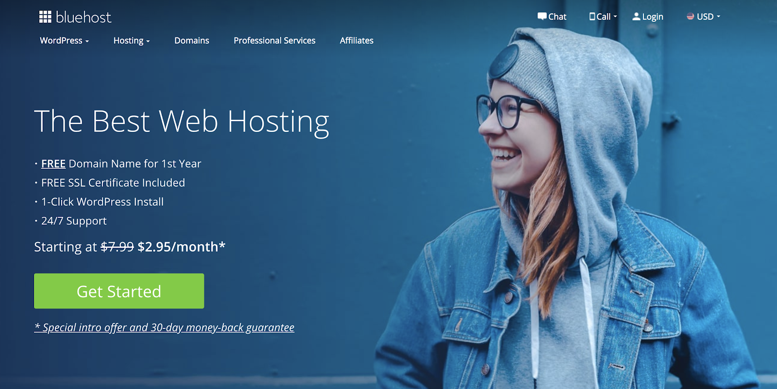 Bluehost Hosting is a Good Choice For New Bloggers (Screenshot)