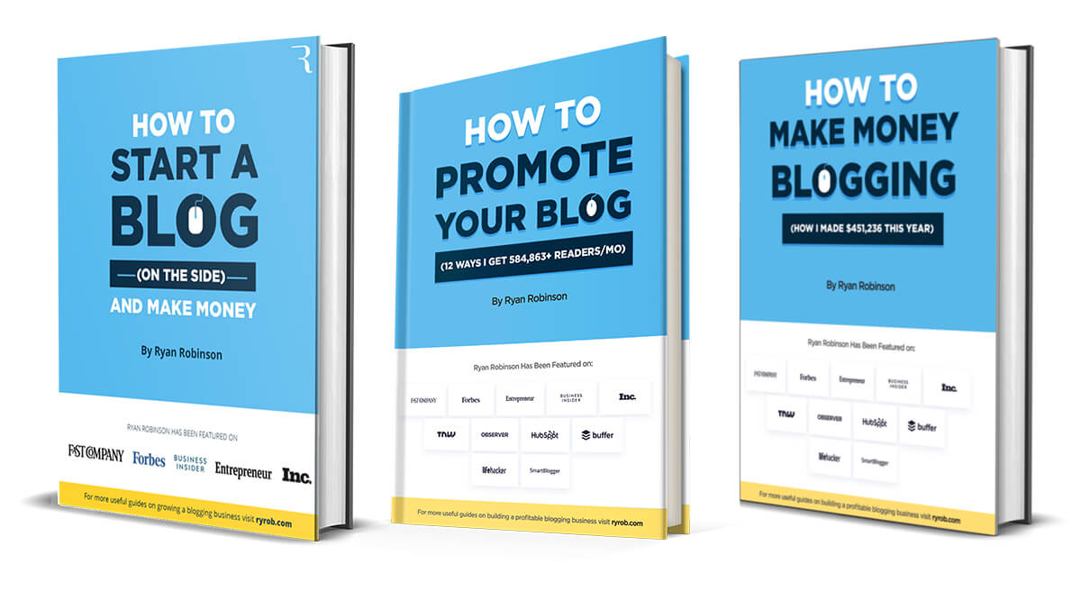 Free book package for Ryan Robinson's blogs