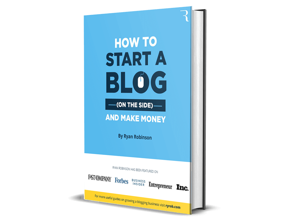 How to start Ryan Robinson's free book blog this year