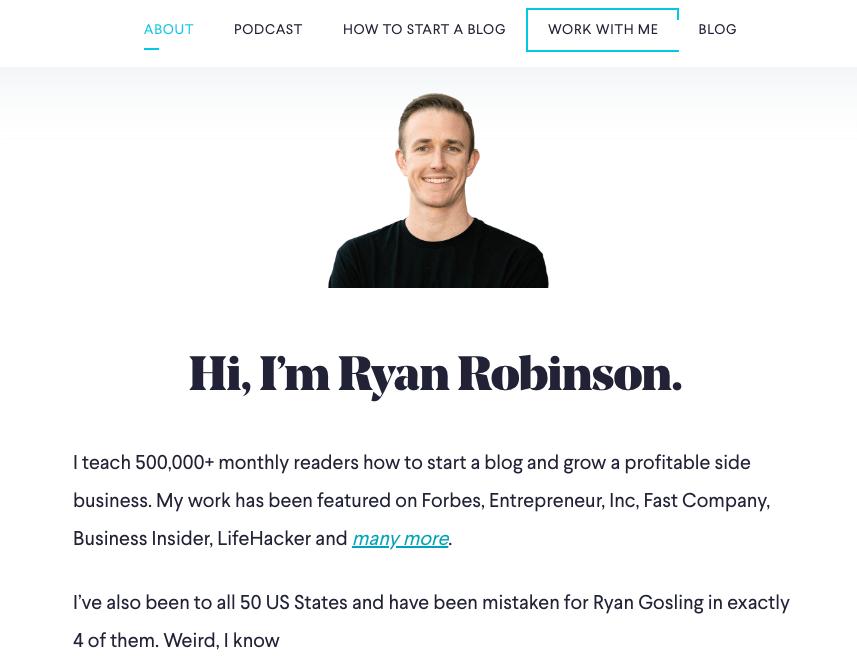 Come scrivere una pagina su di me per il tuo blog (esempio) e screenshot dal mio blog