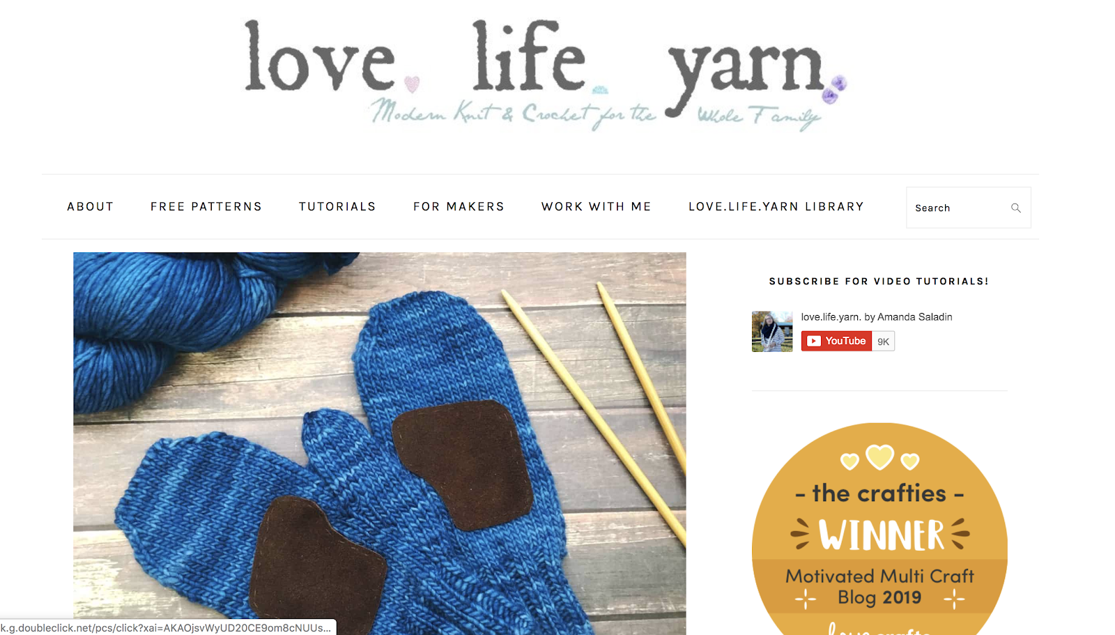 Love Life Yarn Crafting Example of How to Name a Blog and Be Creative
