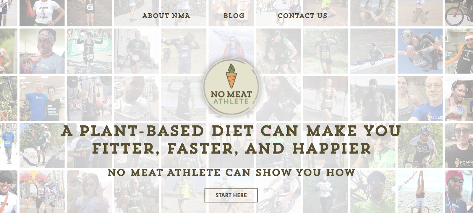 No Meat Athlete Great Alliteration in a Name for a Blog Example (Screenshot)