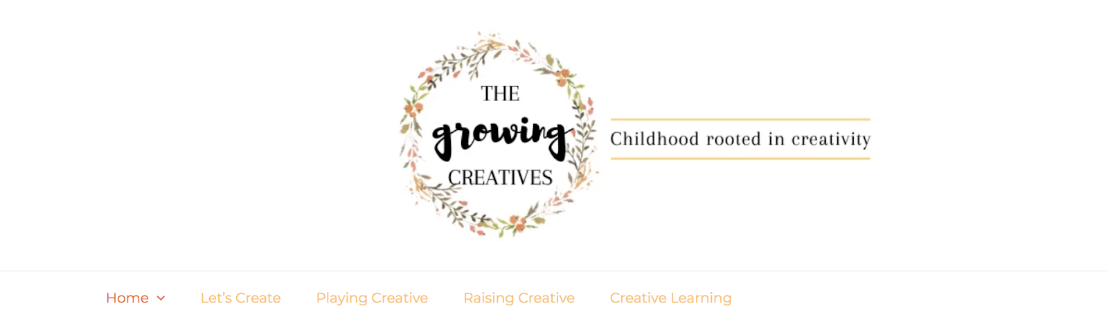 The Growing Creatives Blog for Children and Creativity (Screenshot)